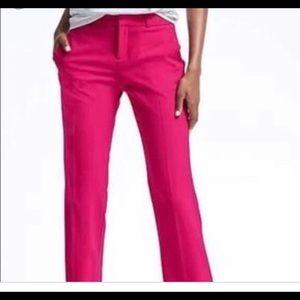 Banana Republic Logan pants 2 hot pink fuchsia